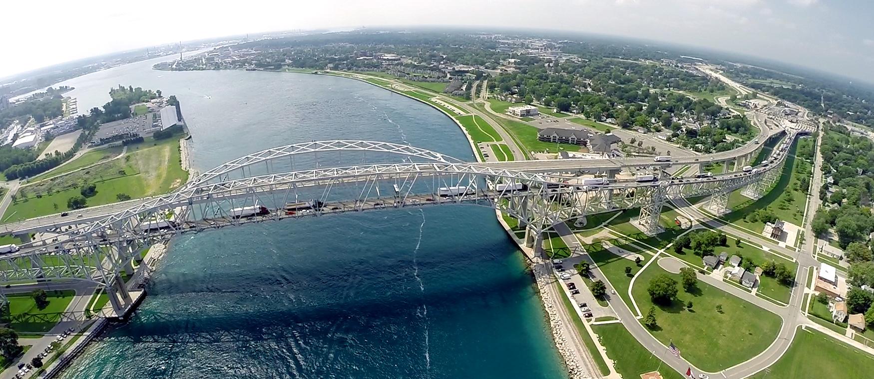 Blue Water Bridge Aerial